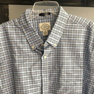 Men's Blue/White Plaid Shirt 🧔🏻
